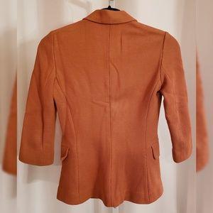 The Row Jackets & Coats - The Row Orange Knit Notched Lapel Blazer sz 2